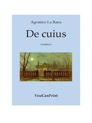 cover image of De cuius