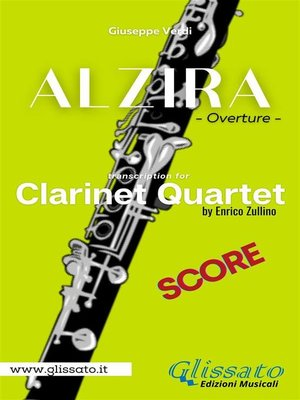 cover image of Alzira--Clarinet Quartet (score)