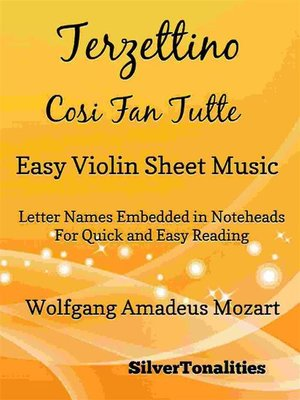 cover image of Terzettino Cosi Fan Tutte Easy Violin Sheet Music