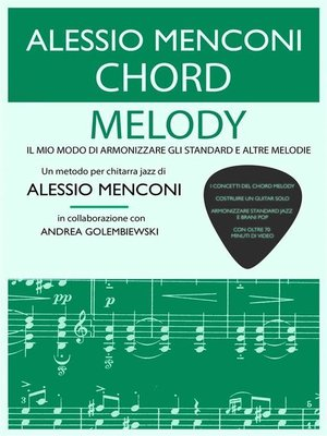 cover image of Chord Melody--Libro con 70 minuti di video