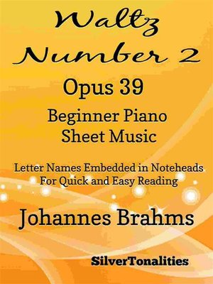 cover image of Waltz Number 2 Opus 39 Beginner Piano Sheet Music