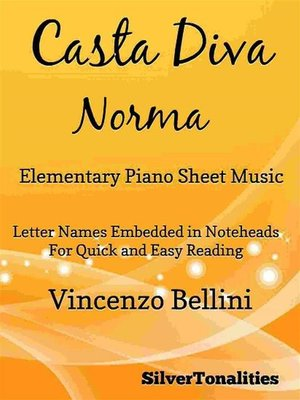 cover image of Casta Diva Elementary Piano Sheet Music
