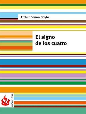 cover image of El signo de los cuatro (low cost). Edición limitada