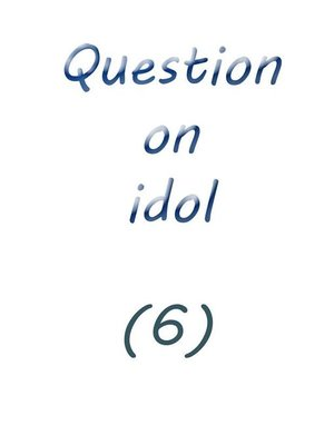 cover image of question on idol (6)