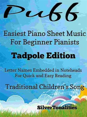 cover image of Puff Easiest Piano Sheet Music Tadpole Edition