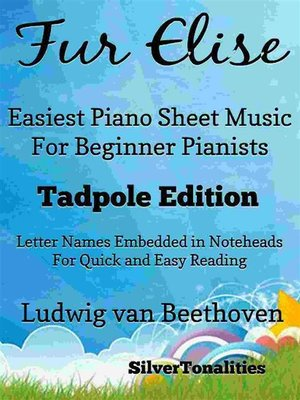 cover image of Fur Elise Easiest Piano Sheet Music for Beginner Pianists
