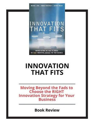cover image of Innovation that Fits
