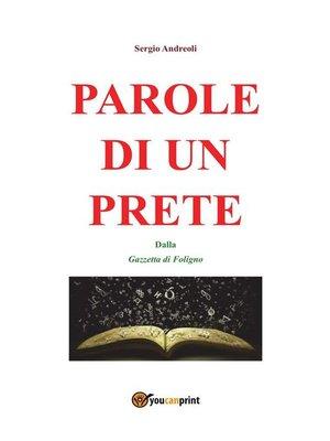 cover image of Parole di un prete