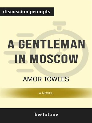 "cover image of Summary--""A Gentleman in Moscow--A Novel"" by Amor Towles 