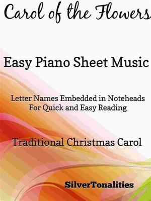 cover image of Carol of the Flowers Easy Piano Sheet Music Tadpole Edition