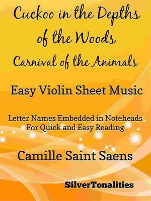 cover image of Cuckoo in the Depths of the Woods Carnival of the Animals Easy Violin Sheet Music