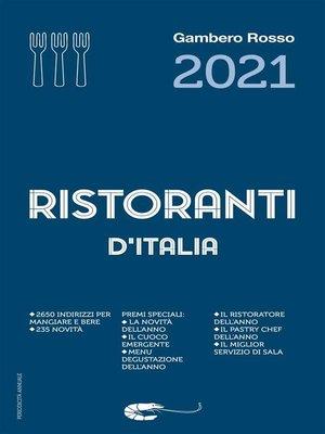 cover image of Ristoranti d'Italia 2021 del Gambero Rosso
