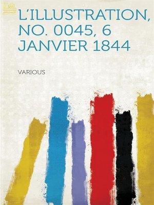 cover image of L'Illustration, No. 0045