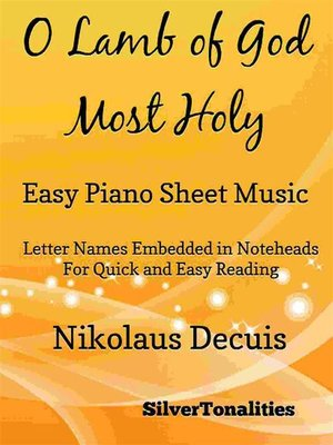 cover image of O Lamb of God Most Holy Easy Piano Sheet Music