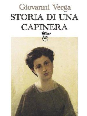 cover image of Storia di una capinera (Letture per la scuola)