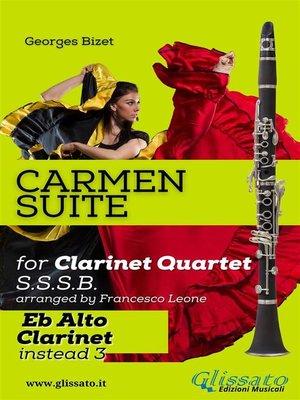 """cover image of """"Carmen"""" Suite for Clarinet Quartet (Alto Clarinet)"""
