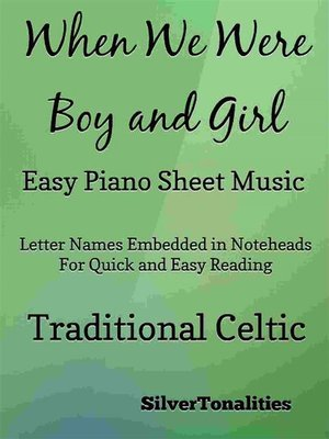cover image of When We Were Boy and Girl Easy Piano Sheet Music