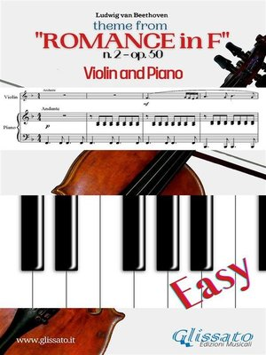 """cover image of Theme from """"Romance in F"""" Easy Violin & Piano"""