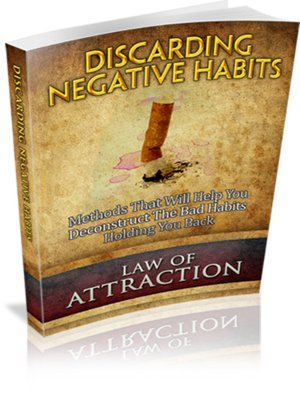 cover image of Law of Attraction--Discarding Negative Habits