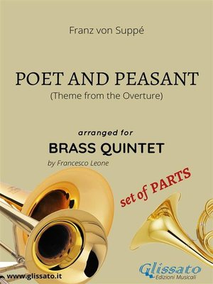 cover image of Poet and Peasant theme -brass quintet set of PARTS