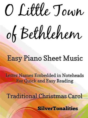 cover image of O Little Town of Bethlehem Easy Piano Sheet Music