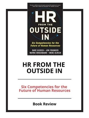 cover image of HR from the Outside In
