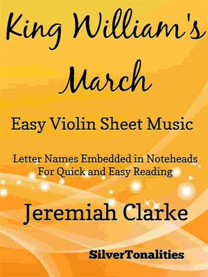 cover image of King William's March Easy Violin Sheet Music
