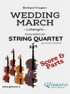 cover image of Wedding March (Wagner)--String Quartet (score & parts)