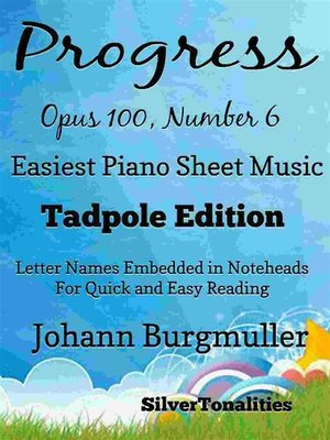 cover image of Progress Opus Opus 100 Number 6 Easiest Piano Sheet Music Tadpole Edition