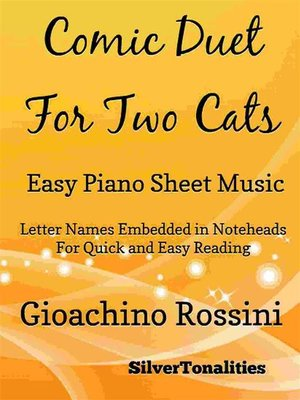 cover image of Comic Duet for Two Cats Easy Piano Sheet Music