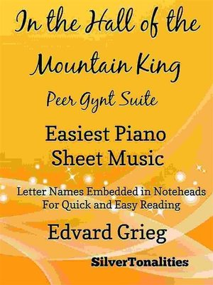 cover image of In the Hall of the Mountain King Peer Gynt Suite Easiest Piano Sheet Music