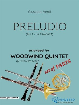 cover image of Preludio (La Traviata)--Woodwind quintet set of PARTS