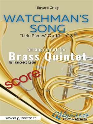 cover image of Watchman's Song--Brass Quintet (score)