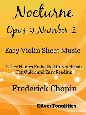 cover image of Nocturne Opus 9 Number 2 Easy Violin Sheet Music
