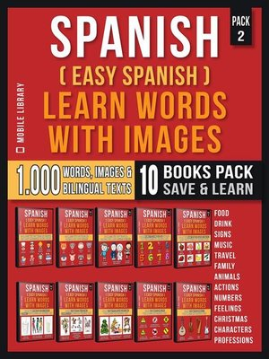 cover image of Spanish ( Easy Spanish ) Learn Words With Images (Super Pack 10 Books in 1)