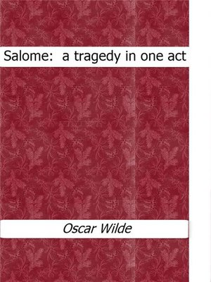 cover image of Salome --a tragedy in one act