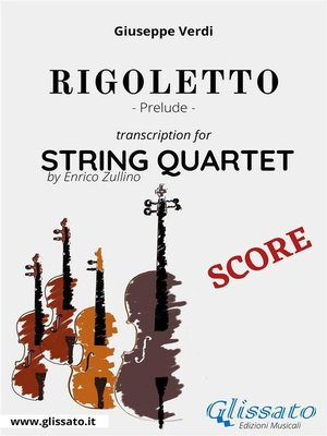 cover image of Rigoletto (prelude) String quartet--Score