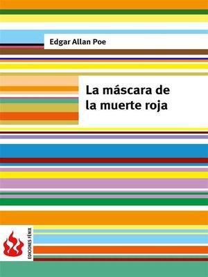 cover image of La máscara de la muerte roja (low cost). Edición limitada