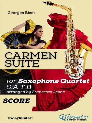 "cover image of ""Carmen"" Suite for Sax Quartet (score)"