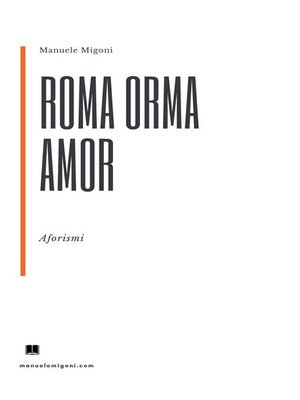 cover image of Roma Orma Amor