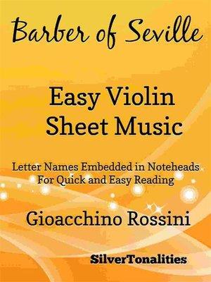cover image of Barber of Seville Easy Violin Sheet Music