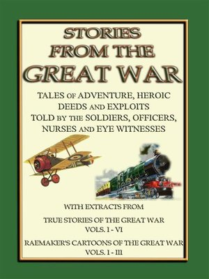cover image of TRUE STORIES from the GREAT WAR--Soldiers Stories and Observations during WWI