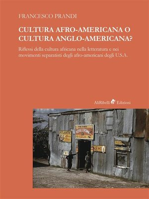 cover image of Cultura Afro-americana o cultura anglo-americana?