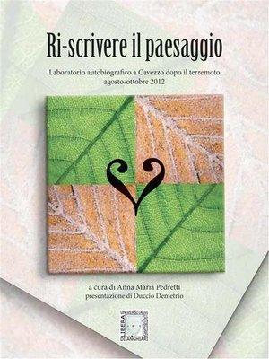 cover image of Ri-scrivere il paesaggio