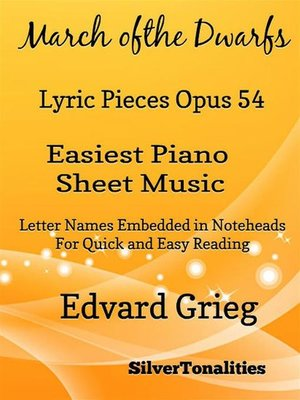 cover image of March of the Dwarfs Lyric Pieces Opus 54 Easiest Piano Sheet Music