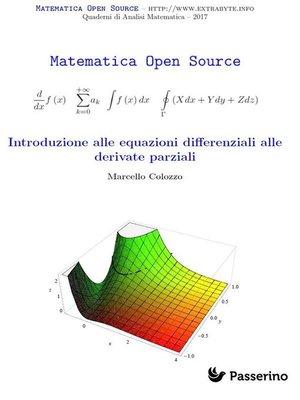 cover image of Introduzione alle equazioni differenziali alle derivate parziali