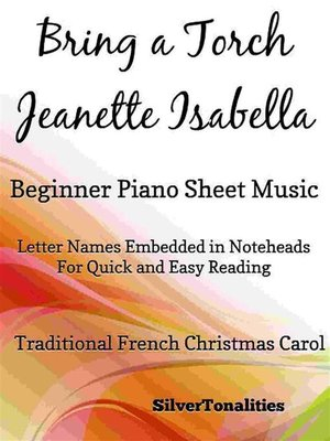 cover image of Bring a Torch Jeanette Isabella Beginner Piano Sheet Music