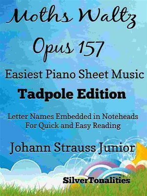 cover image of Moths Waltz Opus 157 Easiest Piano Sheet Music Tadpole Edition