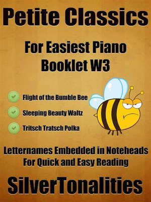 cover image of Petite Classics for Easiest Piano Booklet W3