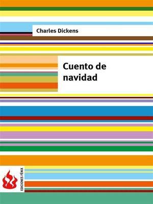 cover image of Cuento de navidad (low cost). Edición limitada